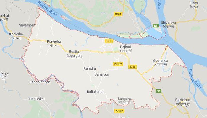 রাজবাড়ী জেলার মানচিত্র