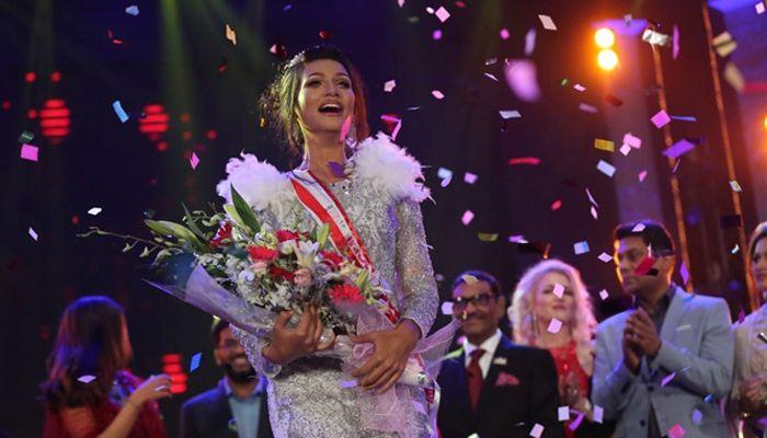 'মিস ইউনিভার্স বাংলাদেশ ২০১৯' নির্বাচিত হলেন শিরিন আক্তার শিলা। ছবি: সংগৃহীত