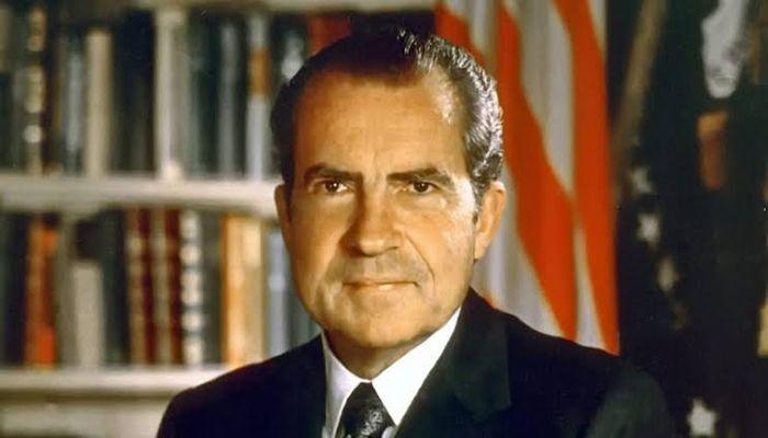 মার্কিন যুক্তরাষ্ট্রের ৩৭তম রাষ্ট্রপতি রিচার্ড নিক্সন।