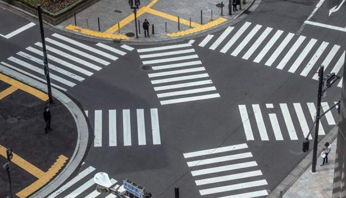 জাপানের রাজধানী টোকিওর ফাঁকা সড়ক। ছবি: বিবিসি