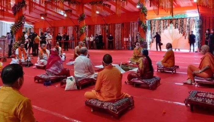 বাবরি মসজিদের জায়গায় রামমন্দির নির্মাণ উদ্বোধন মোদির