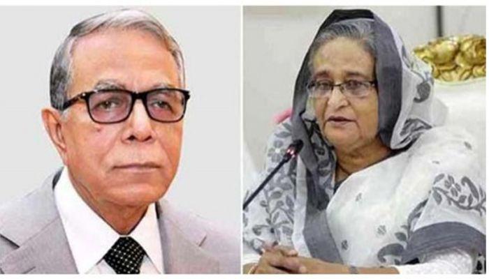 রাষ্ট্রপতি মো. আবদুল হামিদ ও প্রধানমন্ত্রী শেখ হাসিনা।