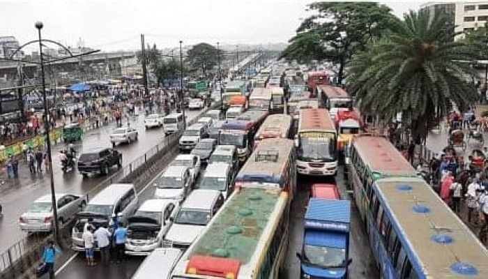 ঢাকা-ময়মনসিংহ মহাসড়কে যানজট