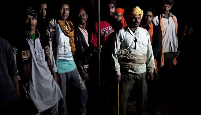 ভারতের একটি 'গোরক্ষক বাহিনী'। ফাইল ছবি (বিবিসি)