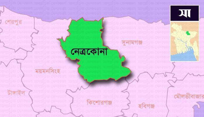 নেত্রকোনা জেলার মানচিত্র।