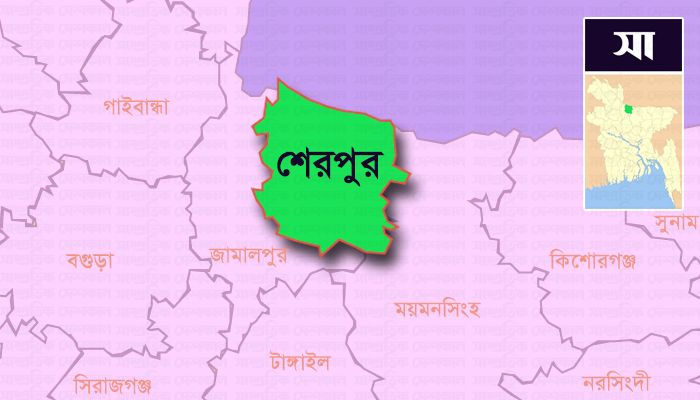 শেরপুর জেলার মানচিত্র