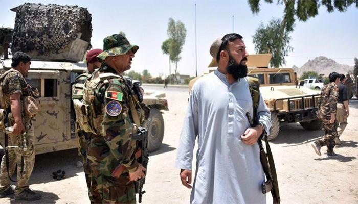 কান্দাহারে তালেবানের সাথে লড়ছে আফগান পুলিশ ও নিরাপত্তা বহিনী। ছবি : বিবিসি
