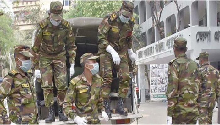 কঠোর বিধিনিষেধ বাস্তবায়নে মাঠে সেনাবাহিনী