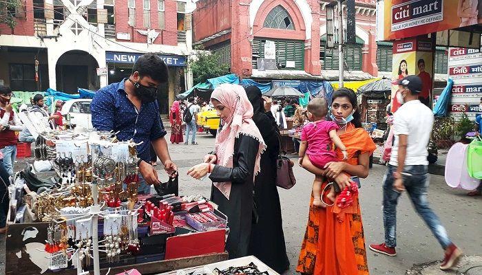 বাংলাদেশি ক্রেতার অভাবে কলকাতার বাজারগুলো এখন অনেকটাই ক্রেতাশূন্য। চিত্র: সংগৃহীত