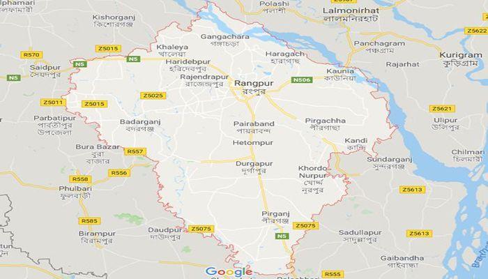 রংপুর জেলার মানচিত্র