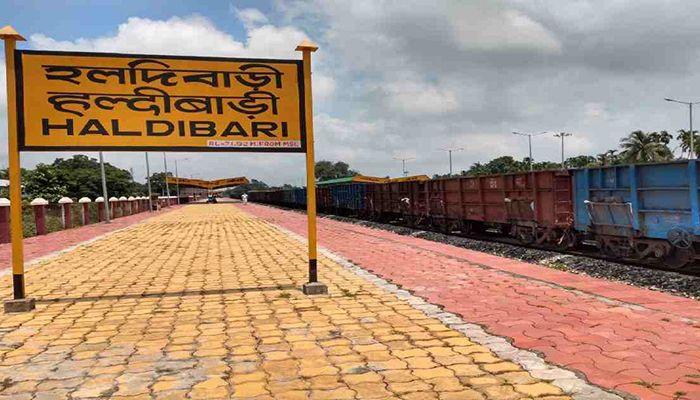 চিলাহাটি-হলদিবাড়ি রেলপথ। ছবি : ইউএনবি
