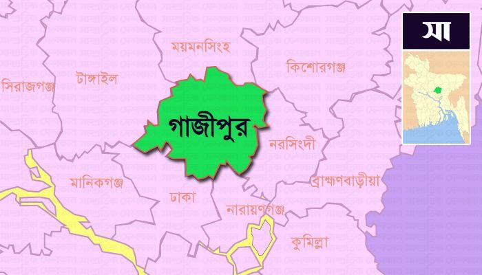 গাজীপুর জেলার মানচিত্র