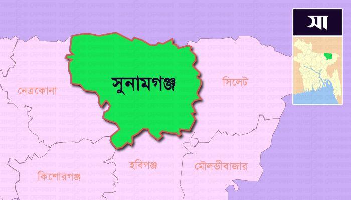 সুনামগঞ্জ জেলার মানচিত্র