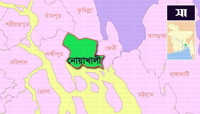নোয়াখালী জেলার মানচিত্র